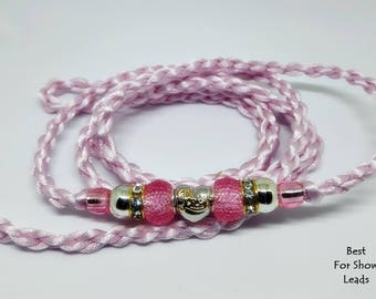 Amazing dog show lead leash, loop end style, handbraided