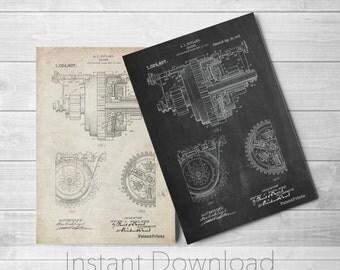 Mechanical Gearing Printables, Industrial Art, Mechanical Engineer, Engineer Gift, Gears, PP0953