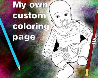 Custom Coloring Page by Tried But Dyed