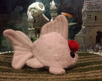 LIMITED RUN Red Capped Oranda Goldfish Plush, Made to Order, Free Gift, Free US Shipping