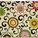 SHIPS SAME DAY Waverly Pom Pom Play Jewel Outdoor Fabric, Floral Upholstery Fabric, Red Green Lime Suzani Fabric by the 1/2 Yard 677651
