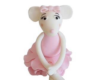 Girl woman figurine edible cake topper decoration fondant for Angelina ballerina edible cake topper decoration sale