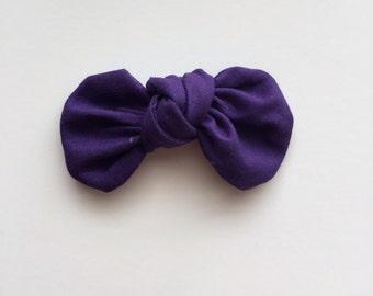 Royal Purple Knot Bow