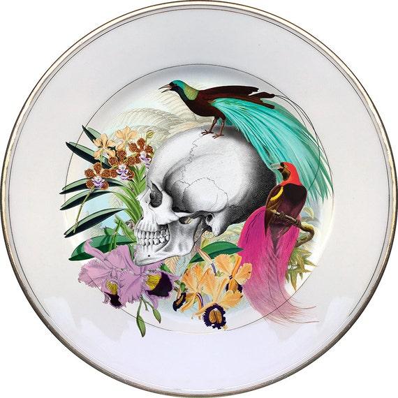 Faizan Skull - Vintage Porcelain Plate - #0443