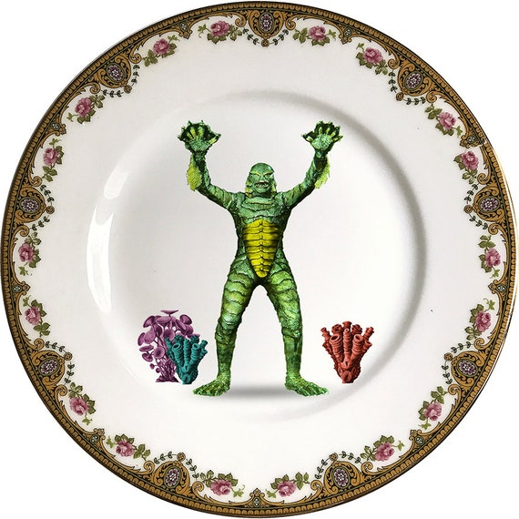 Creature from the black lagoon - Monsters - Vintage Porcelain Plate - #0463