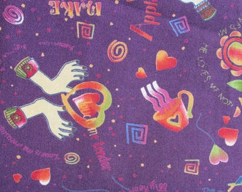 Fun Purple Novelty Fabric