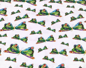 The Very Hungry Caterpillar Encore by Eric Carle for Andover Fabrics for Makower UK 7234/X Butterfly Dance