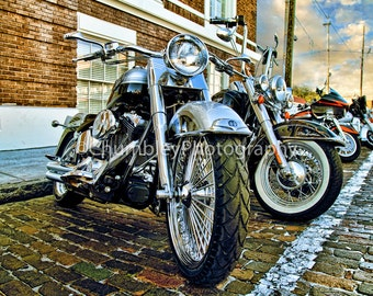Born to Ride-Motorcycle Photography Fine Art Print /Man Cave/Transportation/Cycles
