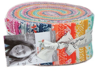 """Early Bird Jelly Roll by Kate Spain for Moda, 40 - 2 1/2"""" x 42"""" strips"""