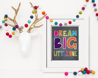 Dream Big Little One|Dream Big Wall Decor|Nursery Decor DIY|Daughter Wall Art|Nursery Decor For Her|Yellow Playroom Art|Playroom Decor|Gift