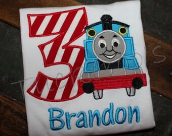 Thomas Train Appliqued Birthday Shirt