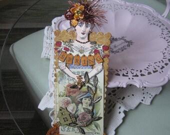 Paper Doll Ornament - Springtime Decor - Springtime Ornament