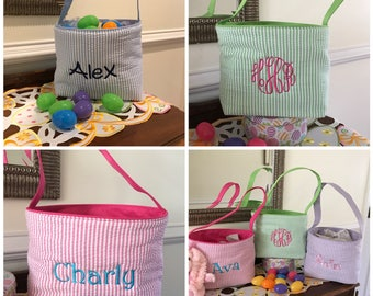 Gift Bags - Easter Basket  - Canvas - Easter Baskets - Monogram