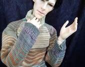 Orange-green sweater for SD, 70+ bjd (fits spiritdoll proud v2)