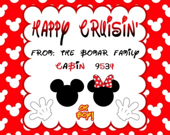 Disney Cruise Fish Extender Gift Tag - Printable File