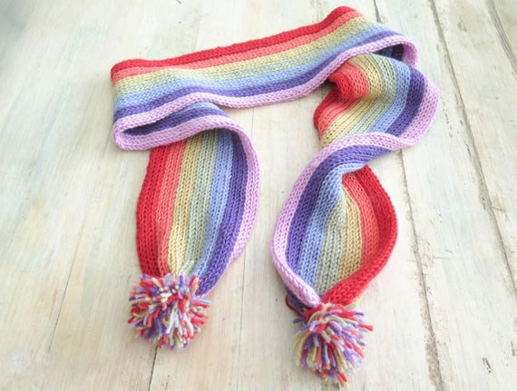 Knitting Vertical Stripes Scarf : Knitting pattern vertical stripe scarves end of the