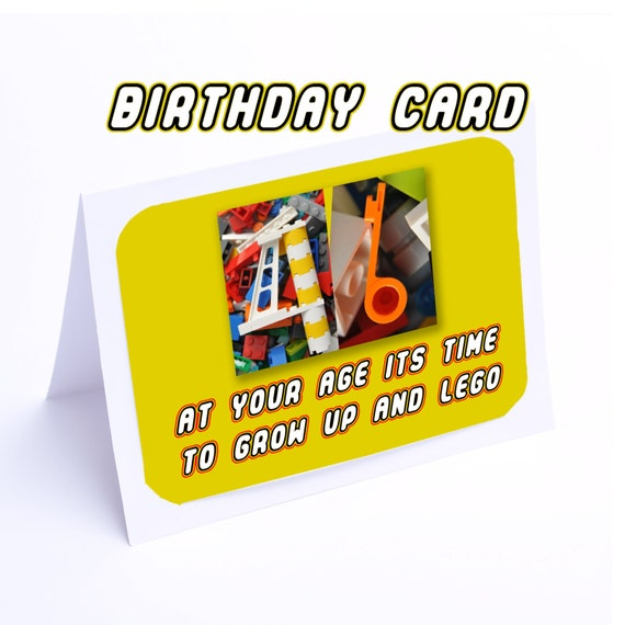 Lego Birthday Card Time To Grow Up Ans Lego 2 Gifts In 1