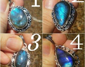 Gorgeous labradorite pendant necklace. 10 different kinds to choose from.