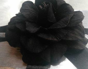 Brooch leather, Real Leather Brooch, Dark  Chocolate Flower Brooch, Flower Brooch Rose, Accessories Women, Ladies Brooch Flower, Gift Idea