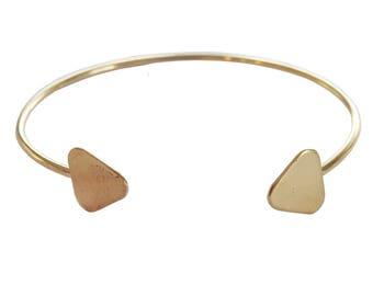 Double Triangle Brass Cuff; Triangle Brass Cuff; Geometric Brass Cuff; Brass Bracelet; Brass Cuff; Geometric Cuff; Geometric Jewelry