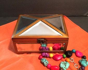 Jewelry Box Mirrored Trinket Box