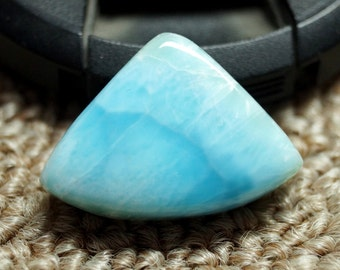 25% OFF Larimar Cabochon 20x19x7 mm