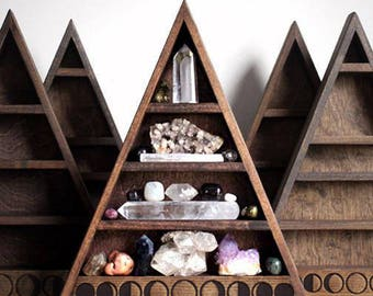 The Original Moon Phase Shelf Triangle Shelf for Crystal Display