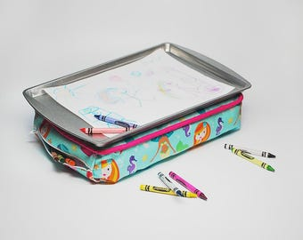 Mermaids Kid's Lap Desk - Kid's Lap Desk - Kid's Lap Tray - Kid's Lap Pillow - Mermaid Toys - Travel Toys - Kid's Birthday Gift