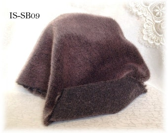 Italian SYNTHETIC fur plush fabric IS-SB09 Frosted PLUM soft dense pile 9 mm 1/8 m teddy bear making supplies