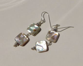 Abalone and Sterling Earrings