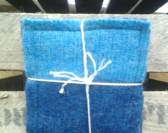Drink Coasters*Felted Wool Fabric Coasters*Rustic Coasters*Home Decor