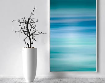 Blue Abstract Seascape Canvas Large Canvas, XXL, Abstract Seascape, Extra large wall art, Teal, Blue, Huge Canvas, Extra large, livingroom
