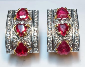 22k Ruby & Diamond Earrings
