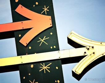 Googie Arrows - Roadside Motel Sign Photograph