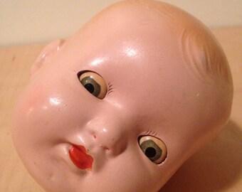 doll head - madame alexander 1940s composition , sleepy eyes