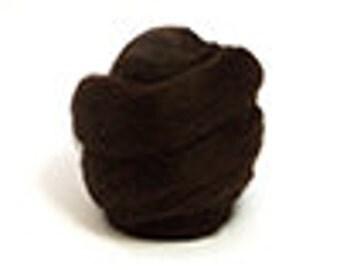 Corriedale Wool Roving /Combed Top/Braid in Mocha  - 2 oz