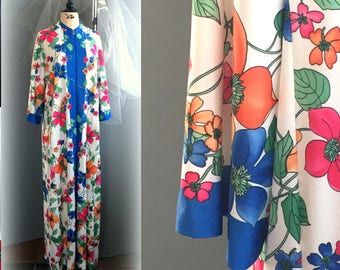 60s XL Floral Lounger - Vivid Hot Pink, Orange, Sapphire Blue & Kelly Green - EVERLYN PEARSON