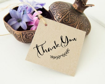 Rustic Thank You Tags, Wedding Favor Tags, Bridal Shower Tags, Wedding Thanks Tags   24 Thank You Product Tags