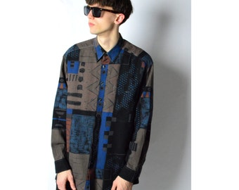 Vintage 90s Abstract Grunge Long Sleeve Shirt