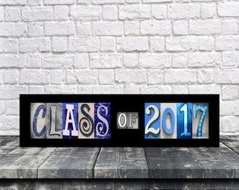 Class Of 2017 Sign - Graduation Gift - Photo Prop Sign - Senior 2017 - Alphabet Letter Art - 2017 senior year - 2018 Class sign - 2019 -2020