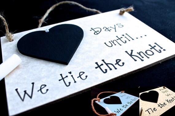 Engagement Gift Idea. Wedding Countdown Sign Days