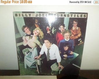 Save 30% Today Vintage 1976 LP Record Billy Joel Turnstiles Columbia Records PC-33848 Very Good Condition 4024