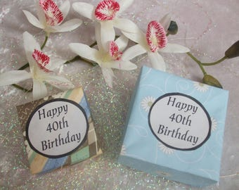 40th Birthday Box - Handmade, unique gift. Special Birthday, Coming of Age gift