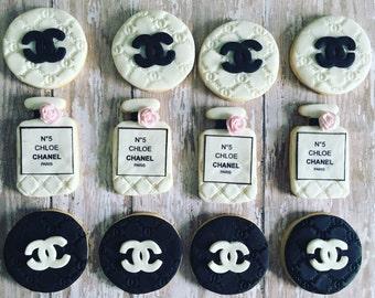 Custom chanel paris sugar cookies