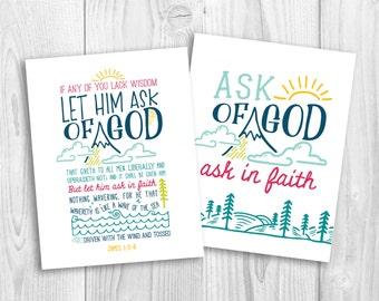 LDS Young Women 2017 Mutual Theme print, Let Him Ask of God, YW theme, mutual theme