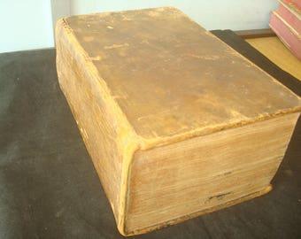 18th Century Medium Size Leather Bound Book of Common Prayer