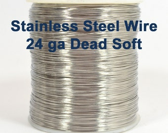 24ga Stainless Steel Wire - Dead Soft - Choose Your Length