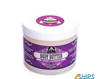 Hand-Crafted Body Butter - Honey Lavender (4 oz)