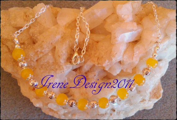 Yellow Jade Necklace by IreneDesign2011