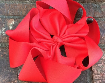 Large hair bow, octopus bow, double double bow, back to school bow,